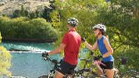 Admiring the waters of the Mata Au River |  <i>James Jubb, Tourism Central Otago</i>