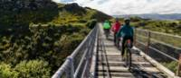 Cycling over the Poolburn Viaduct |  <i>Lachlan Gardiner</i>