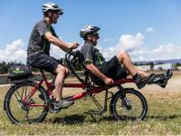 Trail Journeys is able to cater for those less able with the use of recumbent bikes. |  <i>Lachlan Gardiner</i>