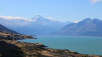 Stunning view of the mighty Aoraki/Mt Cook towering above Lake Pukaki | Neil Bowman