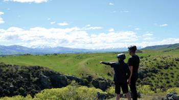Beautiful verdant scenery as we cycle Otago Rail Trail | Toni Wythes